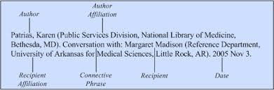 letters and other personal communication citing medicine ncbi