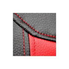housse de siege en cuir pour voiture housse siège auto pour sièges avants en simili cuir et noir