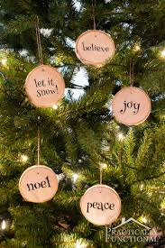 wood slice christmas ornaments u2013 diy from your own christmas tree