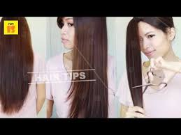 ponytail haircut technique ponytail method is best method to trim your hair by yourself how