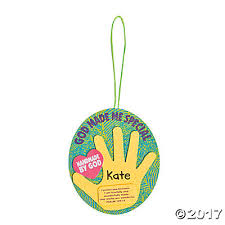 made me special handprint ornament craft kit