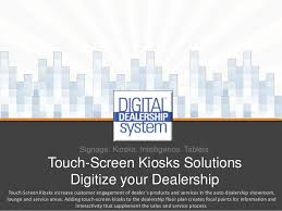 touch screen kiosk solutions for car dealers and more