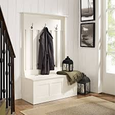 home styles naples white hall tree with storage bench hayneedle