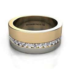 men s rings aramis men s diamond two tone ring 0 40 carats