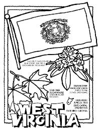 west virginia symbol coloring crayola print