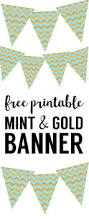 happy halloween banner free printable mint and gold banner free printable paper trail design