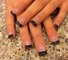 best 10 glitter french manicure ideas on pinterest french