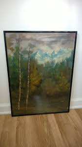 Home Decor On Sale Clearance Sale Clearance Vintage Oregon Original Oil Painting Artwork