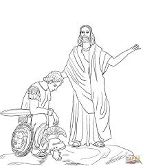 jesus raises widow u0027s son coloring page free printable coloring pages