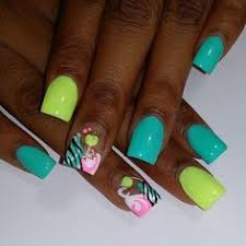 bright lime green with pink and black that looks amazing just can