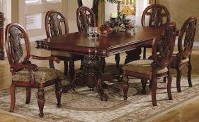 cherry dining room set finish traditional dining room w hand carved details