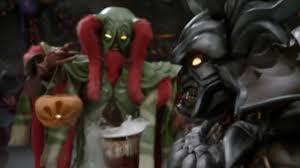 power rangers samurai party monsters red ranger pumpkin
