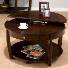 coffee table wood round coffee table with drawer design 2016
