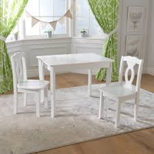 Set Table by Brighton Table And Chair Set White