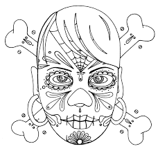 printable skull and crossbones coloring pages