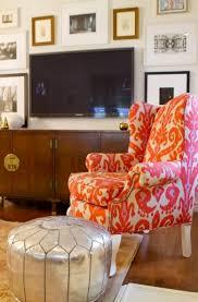 Ikat Armchair Ikat Chair Eclectic Living Room Turquoise La