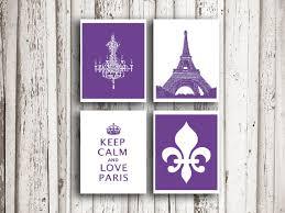 Purple Paris Themed Bedroom i love paris poster mothers day gift keep calm print fleur de lis