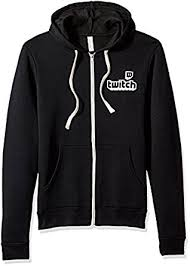 amazon com twitch logo unisex full zip hoodie clothing