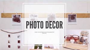 diy how to decorate your room with photos youtube