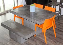 cement table and chairs grey dining chair concept with additional cb2 cement table