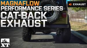 jeep wrangler performance exhaust jeep wrangler magnaflow performance series cat back exhaust system