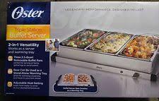 buffet warmer food server triple dish lids electric party dinner