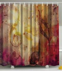 Amazon Com Modern Teen Girls by Music Note Print Polyester Fabric Shower Curtain Ambesonne Http