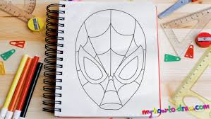 draw spiderman easy step step drawing lessons kids