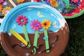 Gardening Crafts For Kids - paper plate garden a fun letter