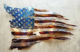 Wooden American Flag Wall Hanging Hartcrafters Custom Metal Art