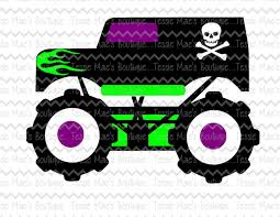 grave digger monster truck poster monster truck svg dxf eps png cutting file cuttable