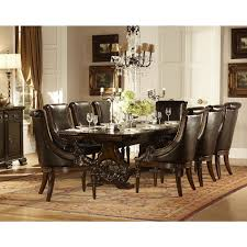 homelegance orleans 7pc dining table set in dark cherry finish for