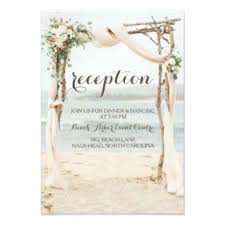 Wedding Reception Card Beach Wedding Reception Invitations U0026 Announcements Zazzle Co Uk
