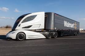 luxury semi trucks walmart debuts wave semi truck prototype motor trend wot