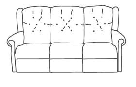 Peterborough Recliner Centre Cotswold Abbey Upholstered 3 Seater Sofa Medium Sofas