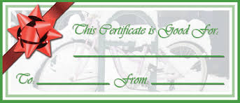 waste free gift certificates