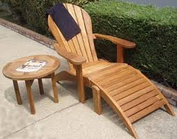 Chairs With Ottoman Adirondack Teak Chairs With Ottoman Free Shipping