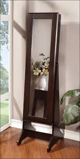 Wall Mirror Jewelry Armoire Bedroom Awesome Full Length Mirror With Jewelry Storage Wall
