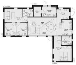 plan de maison 5 chambres plain pied plans de maison en l plan de maison en l gratuit 14 le bon pour