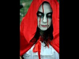 how to create a horror halloween look makeup red riding hood