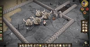 i decided to hit two birds with a stone wall and fuse my beefalo