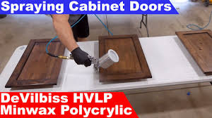 best hvlp for spraying cabinets diy smooth finish on cabinet doors with minwax polycrylic and devilbiss hvlp spray gun