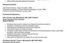 Lifeguard Job Duties For Resume by Account Manager Cv Template Sample Job Description Resume