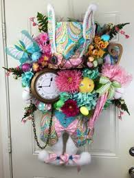 Etsy Easter Door Decorations by Reserved For Sweetie Whimsical Easter Wreath Bunny Door