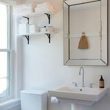 Bathroom White Shelves Bathroom Mirror Shelves Design Ideas