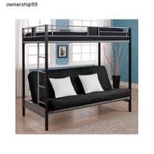 bedroom furniture samba full full futon bunkbed matte black