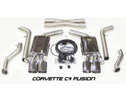 c4 corvette mufflers fcor 0045 c4 fusion rear muffler upgrade with vacuum kit