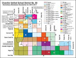 Zip Code Boundary Map Chandler Schools Boundary Maps Search For Homes By Boundaries