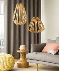 Wooden Pendant Lights Stockholm 1 Light Squat Flair Pendant In Wood