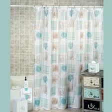 Seashell Shower Curtains Seaside Seashell Coastal Shower Curtain